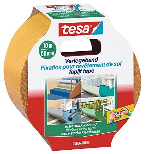 tesa 5686 spezial Verlegeband extra stark 10m x 50mm, doppelseitig