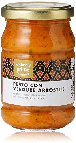 Amazon Marke - Wickedly Prime - Pesto mit gegrilltem Gemüse (6x 190g)