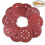 WeeDee Lot de 100 disques de ponçage disque abrasifs pour ponceuse excentrique Ø...