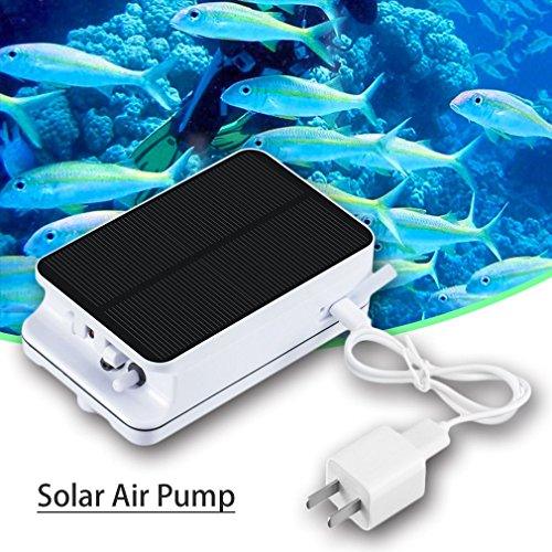 Low-voltage-verkabelung (Gugutogo BSV-AP002 Portable Größe abnehmbare Batterie Solarbetriebene Luftpumpe Gartenpumpe (Farbe: weiß))