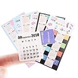 Candygirl 3 x Sets Kalender Index Tabs für das Jahr 2018, Selbstklebend, Für Bullet Journals/Planer/Notizbuch/Tagebuch, Verschiedene Farben Calendar Stickers