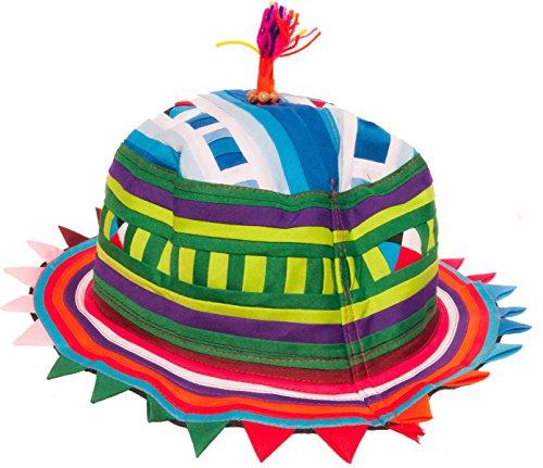 Festival Rave Hat Tribal Hill Tribe Cone or Flat Festival Rave Hut Tribal Hügel Stamm Kegel oder flach (Flat Round)