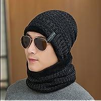 sheng Bonnet pointu à manches courtes noir, tricot chaud gris hot top mode hiver noir