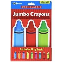 Scholastic Classroom Resources Jumbo Crayons Accents (0545654009)