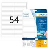 Herma 10015 Beschriftungsstreifen Etiketten ablösbar, wieder haftend (96 x 10 mm) weiß, 1.350 Klebeetiketten, 25 Blatt DIN A4 Papier matt, bedruckbar, selbstklebend, Movables
