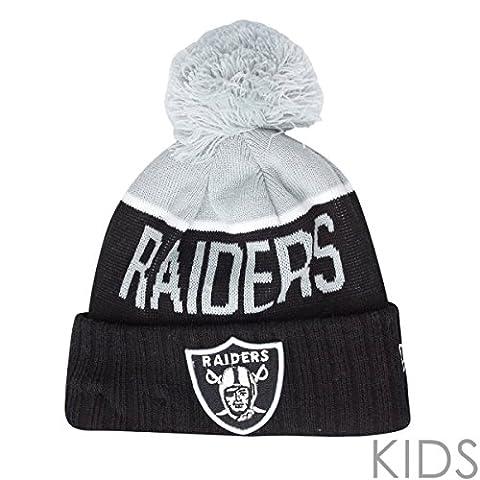 New Era NFL SIDELINE Enfants Beanie - Oakland Raiders