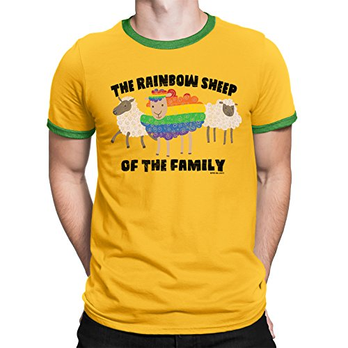 FREE WILL SHIRTS The Rainbow Sheep of The Family - Mens Gay LGBT Lesbian T-Shirt