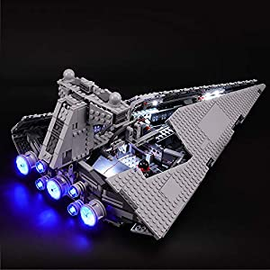 BRIKSMAX Kit di Illuminazione a LED per Lego Star Wars Imperial Star Destroyer, Compatibile con Il Modello Lego 75055… LEGO