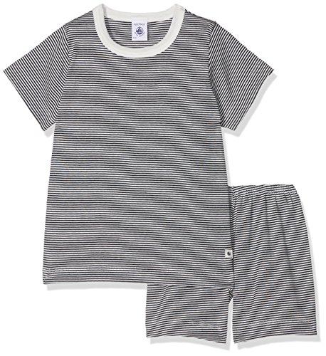 Petit Bateau Jungen Zweiteiliger Schlafanzug PYJACOURT 28712, Mehrfarbig (Smoking/Lait 68), 104 (Herstellergröße: 4ans/104cm)