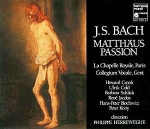 Bach; St. Matthew Passion - Herreweghe (3-cd Box) La Chapelle Royale, Paris