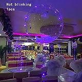 Espeedy Globos LED,1/5/10/20 PCS LED transparente Bobo luz globo de la boda de cumpleaños Navidad año nuevo decoración fiesta suministros