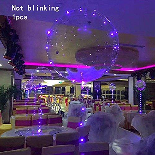 Rokoo 1/5/10/20 Pcs LED Transparente Bobo Luz Globo De La Boda De Cumpleaños Navidad Año Nuevo Decoración Fiesta Suministros