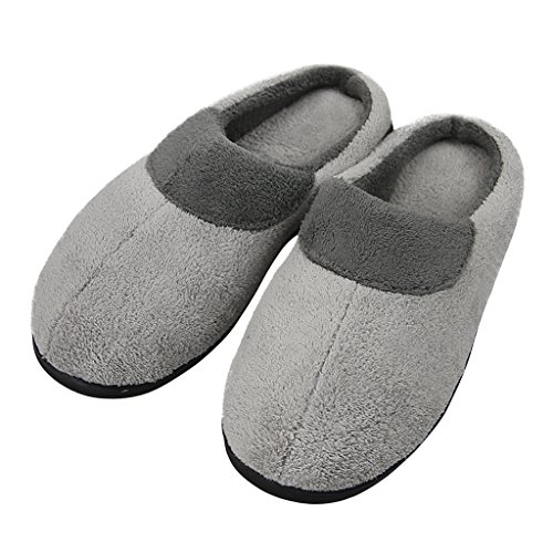 Thermal Fleece Slipper House Indoor Outdoor Camping Non Slip Rubber Sole Mule...