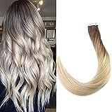 Full Shine Tape in Klebestreifen 24 Zoll 20 Stück 50g pro Packung Haarfarbe # 7B Fading zu Haarfarbe 613 Blondes Ombre-Band in Echthaarverlängerungen Brasilianisches reines Haar