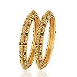 Rich Lady Indian Jewellery Polki Bangles...