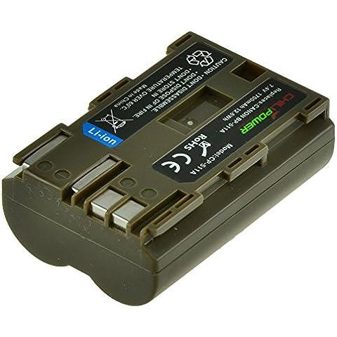 Batería ChiliPower Canon BP-511, BP-511A 1700mAh para Canon EOS 5D, 10D, 20D, 20Da, 30D, 40D, 50D, 300D, D30, D60, Rebel, PowerShot G1, G2, G3, G5, G6, Pro 1, Pro 90, Pro 90 IS, FV10, FV100, FV2, FV20, FV200, FV30, FV300, FV40, FV400, FV50, FVM1, FVM10, Optura 10, Optura 100MC, Optura 20, Optura 200MC, Optura 50MC, Optura Pi, Optura Xi, PV130, ZR10, ZR20, ZR25, ZR25MC, ZR30, ZR30MC, ZR40, ZR45MC, ZR50MC, ZR60, ZR65MC, ZR70MC, ZR80, ZR85,