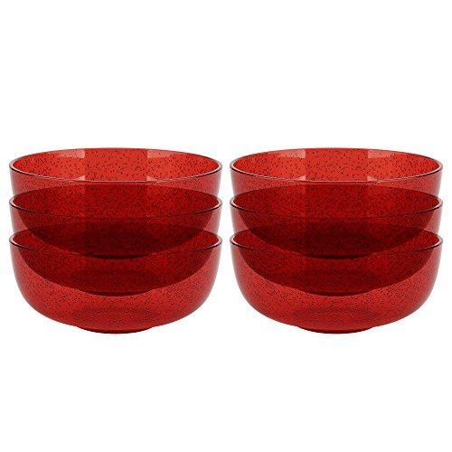 Zak Designs 0078–9412-iset Spritz Plastique bols, Rouge
