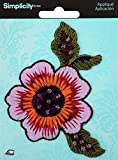 Wrights Iron - On Applique - Flower (Pack of 3 )