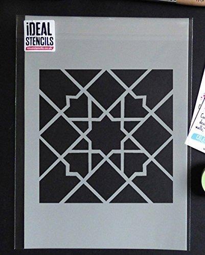 Ideal Stencils marokkanische Fliese Muster Schablone 2 Haus Wand Dekor Muster Kunst & Basteln Schablone Farbe Wände Stoffe & Möbel 190 Mylar wiederverwendbar