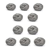 #10: Bikrikendra - Stainless Steel Big Scrub Pad (Silver, Set of 10)
