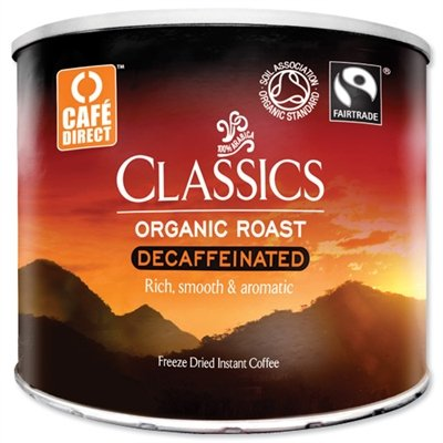Cafe Direct Classics Decaffeinated Instant Coffee Fairtrade Organic Roast 500g by Stationary Planet
