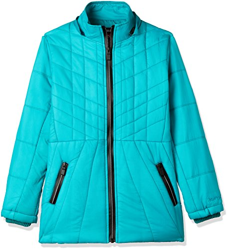 Fort Collins Girls' Regular Fit Synthetic Jacket (10210_Green_34 (13 - 14 years))