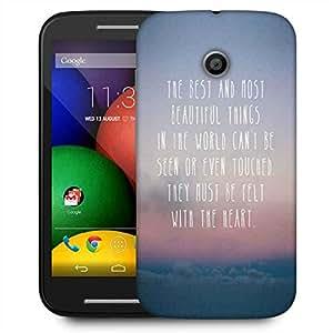 Snoogg Felt With The Heart Designer Protective Phone Back Case Cover For Motorola E2 / MOTO E22