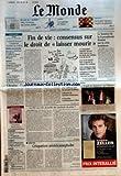 MONDE (LE) [No 18611] du 26/11/2004 - 60 ANS DU MONDE - 1983, LE BOEING SUD-COREEN ABATTU - GOUTS - LES LEGUMES DE L'HIVER - PORTRAIT - CHRISTOPHE SALENGRO, L'EMPLOI DU PHYSIQUE - DES LIVRES - LE LIVRE DE JEUNESSE A MONTREUIL - ACTUALITE DU CINEMA - PROCES DES ECOUTES - MAUROY ET SCHWEITZER TEMOIGNENT - LA CELLULE DE L'ELYSEE COURT-CIRCUITAIT MATIGNON - EUROPE - LES SOCIALISTES ESPAGNOLS CONSTERNES PAR LA CONTROVERSE AU PS FRANCAIS - UMP - LA TRES MEDIATIQUE TOURNEE D'ADIEU AU