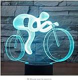 3D Led Nachtlicht Fahrt Fahrrad Mit 7 Farben Licht Für Heimtextilien Lampe Erstaunliche Visualisierung Optische Täuschung Ehrfürchtig