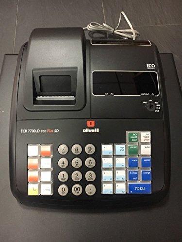 Olivetti Registrierkasse ECR 7700LD eco Plus SD 41x23x43 cm schw