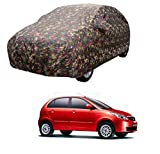 MotRoX Car Body Cover For Tata Indica Vista with Side Mirror Pocket (Military Color)