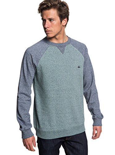 Quiksilver Herren Kapuzenpullover Everyday Crew, Blau (Tapestry Heather BPHH), Large
