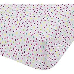 Catherine Lansfield Wolken Easy Care Spannbettlaken für Einzelbetten, Polyester-, Multi, 190x 90x 0,5cm
