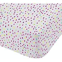Catherine Lansfield nubes fácil cuidado sábana bajera ajustable para cama individual, polyester-cotton, Multi, 190x 90x 0,5cm