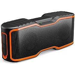 AOMAIS Sport II 20W Portable IPX7 Imperméable Sans Fil Stéréo Haut-Parleur Bluetooth,Haut-parleurs Magnétiques NdFeB de 52 mm de Grand Diamètre,90 dB,Gamme Bluetooth 130 Pieds,12 Heures de Lecture