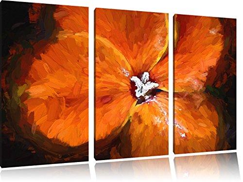 belle floraison cresson NewArt 3 PC image de toile 120x80 d'image sur la toile,...