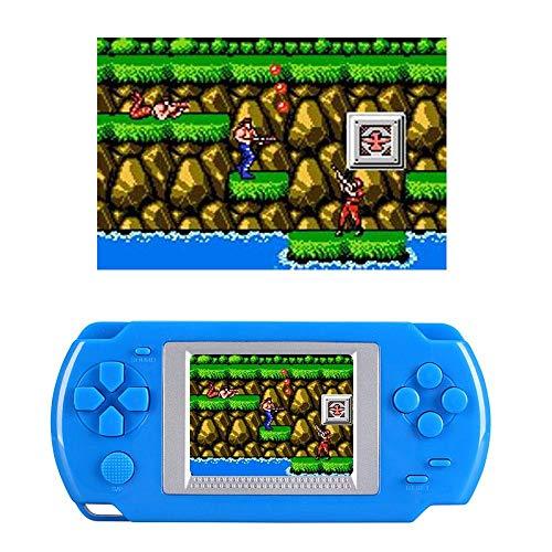 Womdee Console de Jeu Portable pour Enfant, Jeux 268 Classiques Intégrés, 2.0' Couleur LCD Rétro Consoles de Jeu, Cadeau électronique de Jouets pour Enfants - Bleu
