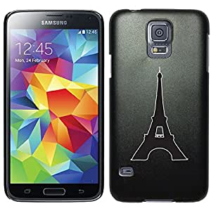 Coveroo Thinshield Cell Phone Case for Samsung Galaxy S5 - Eiffel Tower (Paris, France)