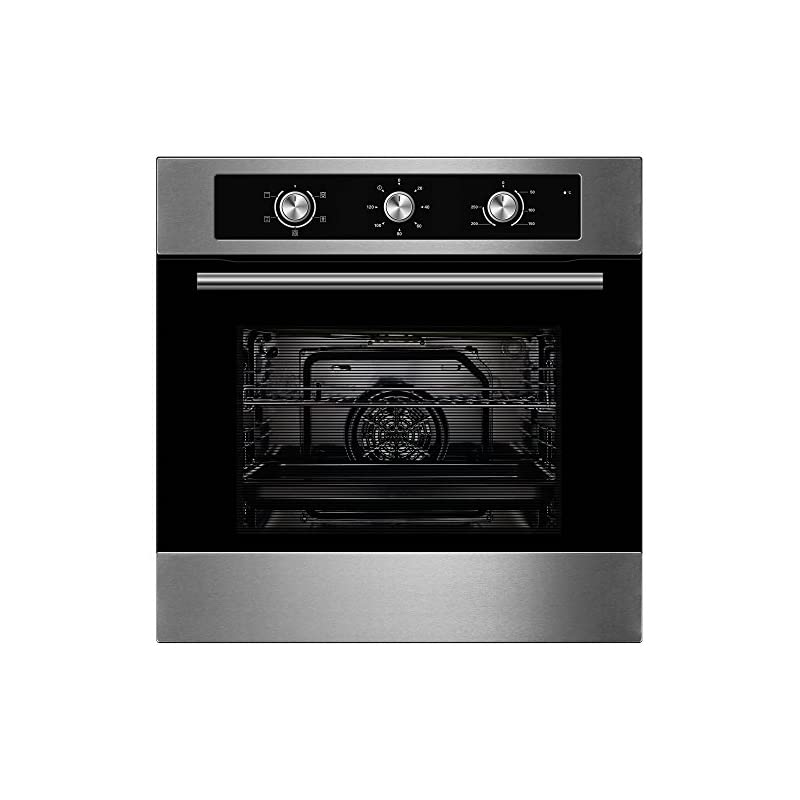Cookology Built-in Electric Fan Forced Oven & 60cm Touch Control 4 Zone Induction Hob Pack (Stainless Steel)