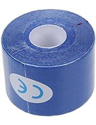TOOGOO (R) 1 rollo de Deportes Kinesiologia Musculos Cuidado Gimnasio Atletico 5M Cinta Salud * 5CM - Azul marino
