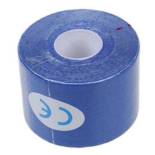TOOGOO(R) 1 Muscoli Rotolo Sport Kinesiologia Benessere Palestra Athletic Salute nastro 5M * 5CM - Navy blu