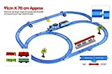 Fusine™ 33 pieces Large Premium Quality Battery Operated Classic Train Running on tracks with track switcher Play Set Toy for Kids