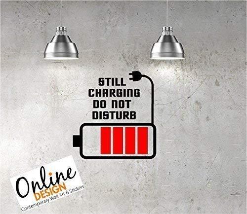 Online Design Mural Citation Vinyle Autocollant Art Charge, Do Not Disturb Teenage Chambre Enfants - Rouge