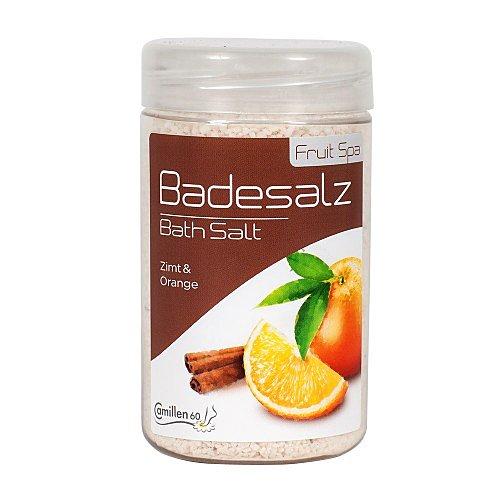 Badesalz Zimt Orange, Camillen 60, Fussbad Badezusatz für die Füsse, mit Fruchtextrakt, 350 g