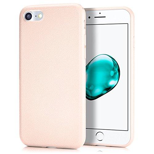 iPhone 6S Plus Hülle Silikon Rosé-Pink in Leder Optik [OneFlow Flex Back-Cover] Schutzhülle Etui Handy-Hülle für iPhone 6 Plus / 6S + Plus Case Ultra-Slim Silikonhülle Tasche ROSÉ