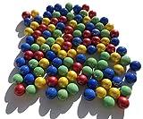 FAIRY TAIL & GLITZER FEE 100 Stück Bunte Glasmurmeln blau Gold grün rot Murmeln 16mm Glas-Steine Murmel Vasen-Füllungen Blaue goldene rote grüne Murmeln Glitzersteine Dekoschalen Murmelspiel Glas