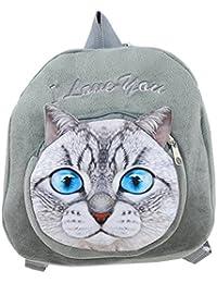 Preisvergleich für Freitop Kinderrucksack Katze Hund Cartoon Muster 3D ab 1 Jahre Schulrucksack Rucksack Plüsch Kindergartenrucksack...