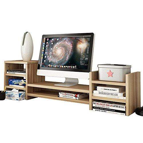 XUE Regal LCD-Bildschirm Multilayer Base Multifunktions-Desktop-Speicher Rack Hölzerne Größe 97 * 20 * 28cm - (Farbe : 5#) -
