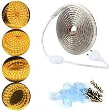 ALED LIGHT® Striscia LED 220V IP65 Imperable 5050 3M 180LEDs SMD Bianco Caldo. - Amplificatore Di Alimentazione Di Progettazione