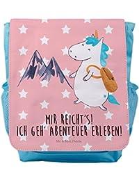 Preisvergleich für Mr. & Mrs. Panda Kinderrucksack Einhorn Bergsteiger - 100% handmade in Norddeutschland - Unicorn, Kids, Berge,...